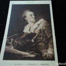 Postales: L´INSPIRATION, J. H. FRAGONARD, MUSEE DU LOUVRE, 298, BRAUN & CIE. Lote 288656063