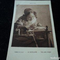 Postales: LA DENTELLIERE, VELMEER DE DELFT, MUSEE DU LOUVRE,2456 BRAUN & CIE. Lote 288656343