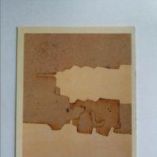 Postales: POSTAL - EDUARDO CHILLIDA - SIN TITULO 1975 - COLLAGE SOBRE PAPEL. Lote 288680283