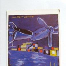 Postales: POSTAL - GALERIA TEMPLE - GOBERNADOR VIEJO - VALENCIA - DIS BERLIN - AIRPORT NIGHT. Lote 288686643