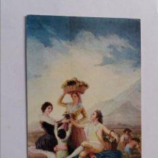 Postales: POSTAL - MUSEO DEL PRADO - GOYA - LA VENDIMIA - CARTÓN PARA TAPIZ. Lote 295632598