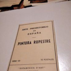 Postales: POSTALES ARTE PREHISTÓRICO EN ESPAÑA PINTURA RUPESTRE. Lote 295860028