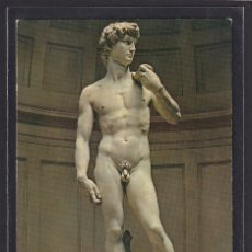 Postales: ARTE - FIRENZE GALLERIA ACCADEMIA - IL DAVID DI MICHELANGELO (FIRENZE (FLORENCIA), TOSCANA, ITALIA). Lote 295935288