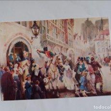 Postales: POSTAL - EL JINETE DE LA CALLE DE LAS CAMPANAS - GENUINA AGUA DE COLONIA. Lote 295970138