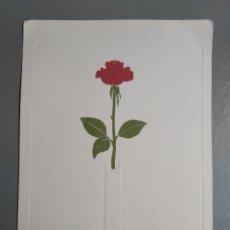Postales: TARJETA SENCILLA FLOR ROSA. Lote 297065808