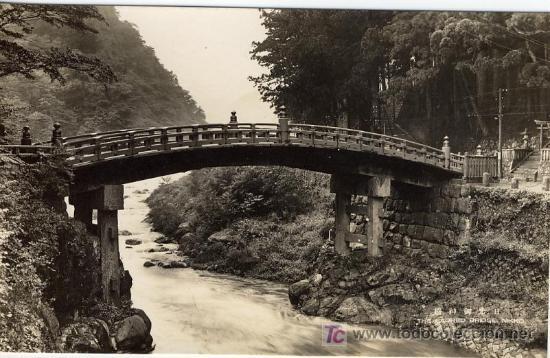 A1412 JAPON PUENTE SAGRADO EN NIKKO- &ALF (Postales - Postales Extranjero - Asia)