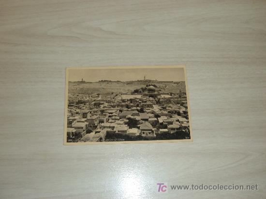 PALESTINA JERUSALEM GENERAL VIEW AND MOUNT OF OLIVES (Postales - Postales Extranjero - Asia)