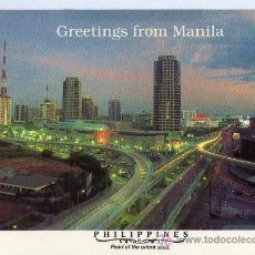 Postales: POSTAL GREETINGS FROM MANILA FILIPINAS. Lote 6743613