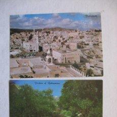 Postales: LOTE DE 2 POSTALES, JERUSALEN Y BELEN, AÑOS 60-70. Lote 18918019