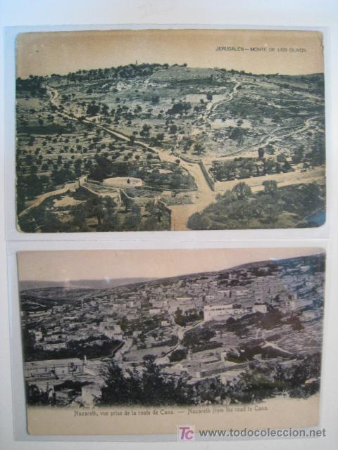 LOTE 2 POSTAL JERUSALEN: MONTE OLIVOS, NAZARET (Postales - Postales Extranjero - Asia)