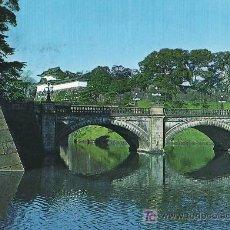 Postales: TARJETA POSTAL DE TOKIO (JAPON) - PUENTE DOBLE NIJU-BASHI Y PALACIO IMPERIAL. Lote 12753525