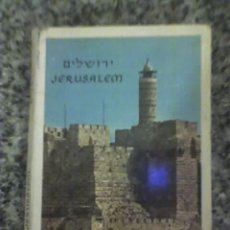 Postales: PEQUEÑO LIBRO DESPLEGABLE DE MINI POSTALES DE ISRAEL (JERUSALEM). Lote 27636849