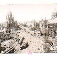 Postales: VICTORIA TERMINUS. BOMBAY. ESTACIÓN HISTÓRICA DE FERROCARRIL DE BOMBAY. INDIA. TRANVÍAS.. Lote 19789283