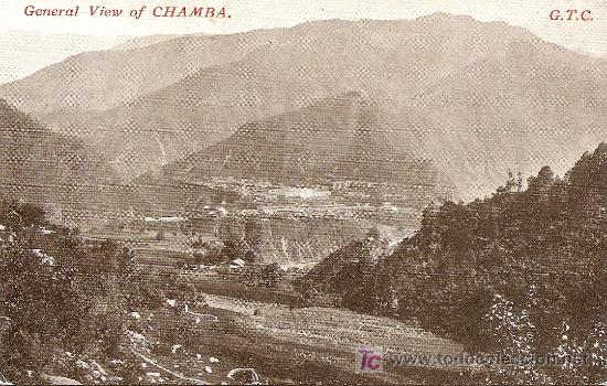 GENERAL VIEW OF CHAMBA (Postales - Postales Extranjero - Asia)