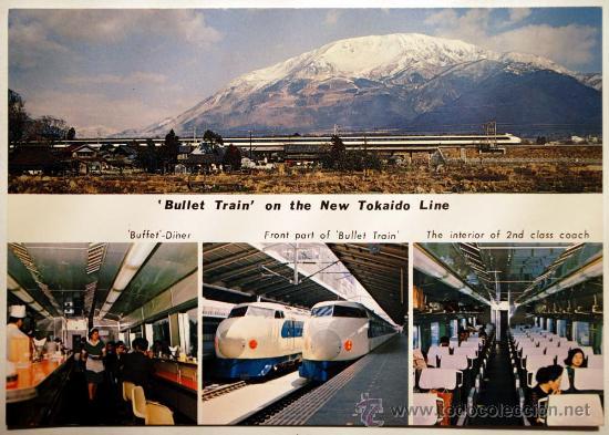 Usado, BULLET TRAIN ON THE NEW TOHKAIDO LINE. TOKIO AND OSAKA IN 3 HOURS. MT. IBUKI segunda mano