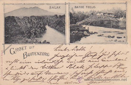 BUITENZORG EN 1898 (INDIAS ORIENTALES HOLANDESAS). RARA POSTAL CIRCULADA A LEIPZIG Y REENVIADA. (Postales - Postales Extranjero - Asia)