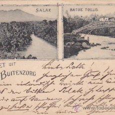 Postales: BUITENZORG EN 1898 (INDIAS ORIENTALES HOLANDESAS). RARA POSTAL CIRCULADA A LEIPZIG Y REENVIADA.. Lote 30947779
