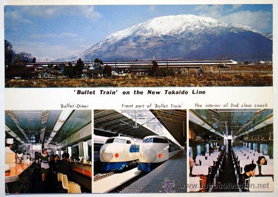 Usado, BULLET TRAIN ON THE NEW TOHKAIDO LINE. Mt. IBUKI. NAGOYA. TOKIO and OSAKA in 3 hours. segunda mano
