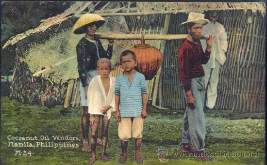 MANILA (FILIPINAS).- COCOANUT OIL VENDORS (Postales - Postales Extranjero - Asia)