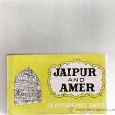 Postales: ALBUM - 20 PICTURE POST CARDS - JAIPUR AND AMER - AÑOS 60/70 . Lote 31015441