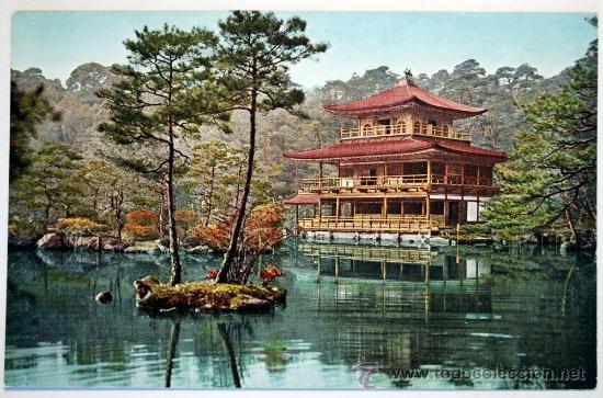 JAPON. THE KINKAZU-ZI OR GOLDEN PAVILION. THE ASIKAGA PERIOD. (Postales - Postales Extranjero - Asia)