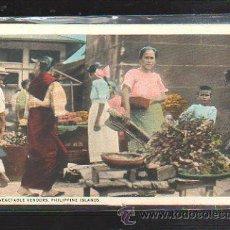 Postales: TARJETA POSTAL DE FILIPINA. VEGETABLE VENDORS. MANILA. . Lote 32781353