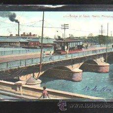 Postales: TARJETA POSTAL DE FILIPINA. BRIDGE OF SPAIN. . Lote 32781366
