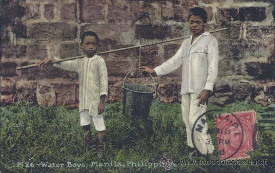 MANILA (FILIPINAS).- WATER BOYS (Postales - Postales Extranjero - Asia)