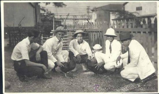 MANILA (FILIPINAS).- FOTOGRAFÍA AÑO 1923.- PELEA DE CAPONES (Postales - Postales Extranjero - Asia)