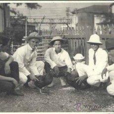 Postales: MANILA (FILIPINAS).- FOTOGRAFÍA AÑO 1923.- PELEA DE CAPONES. Lote 32996130