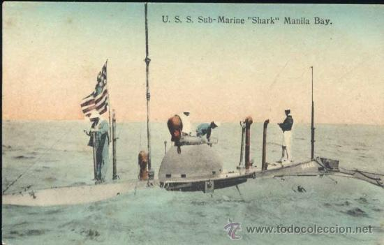 "MANILA (FILIPINAS).- U.S.S. SUB MARINE ""SHARK"" (Postales - Postales Extranjero - Asia)"