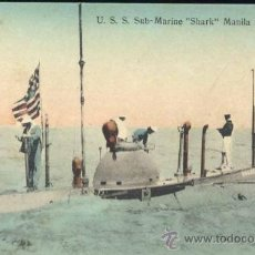 Postales: MANILA (FILIPINAS).- U.S.S. SUB MARINE