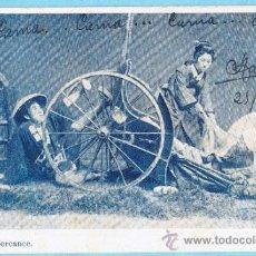 Postales: UN PERCANCE. JAPÓN. EDITADA EN ESPAÑA. UNION POSTAL UNIVERSAL. REVERSO SIN DIVIDIR. CIRCULADA, 1904. Lote 33385333