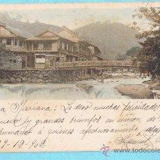 Postales: PAISAJE CON RÍO. JAPÓN. UNION POSTALE UNIVERSELLE. REV SIN DIVIDIR. CIRCULADA, 1902. Lote 33385686