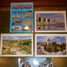 Postales: 5 POSTALES TEL AVIV, JERUSALEM, NAZARETH. Lote 33554577