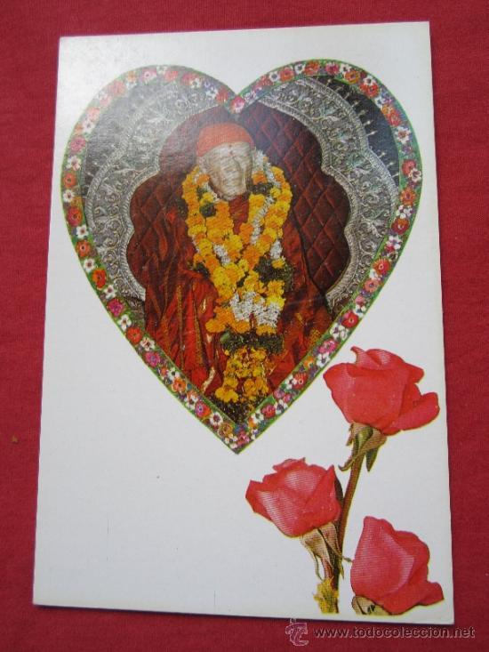 POSTAL , - SHRI SHIRDI SAIBABA , TRAIDA DE LA INDIA , AÑOS 80 , VER REVERSO (Postales - Postales Extranjero - Asia)