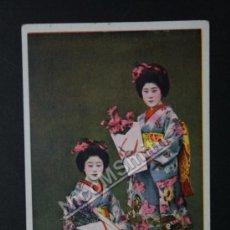 Postales: ANTIGUA POSTAL ORIGINAL DE ÉPOCA - PAREJA DE GEISHAS MAIKOS - JAPON - AÑOS 1920 - GEISHA REF178. Lote 35533724