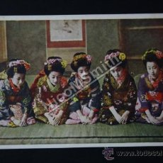 Postales: ANTIGUA POSTAL ORIGINAL DE ÉPOCA - GRUPO DE GEISHAS MAIKOS - JAPON - KOBE AÑO 1920 - GEISHA REF179. Lote 35533788
