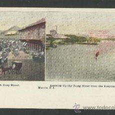 Postales: MANILA - A BUSY STREET - RIVER - MANILA PI - (17339). Lote 39157390