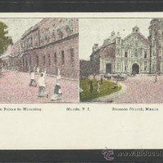 Postales: MANILA - THE PALACE IN MOURNING , BINONDO CHURCH - MANILA PI - (17346). Lote 39157595