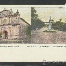 Postales: MANILA - SAN PEDRO DE MACATI CHURCH - MANILA PI - (17348). Lote 39157665