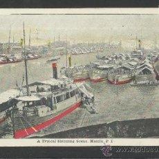Postales: MANILA - A TYPICAL SHIPPING SCENE - MANILA PI - (17350). Lote 39157716