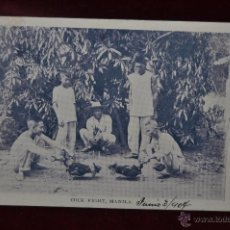 Postales: ANTIGUA POSTAL DE MANILA. FILIPINAS. PELEA DE GALLOS. Lote 41038566
