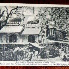 Postales: POSTAL DE DELHI, INDIA, THE GOLDEN MOSQUE, CHANDNI CHANK, CHAMBA RAM, LUKKA BAZAAR, NO CIRCULADA.. Lote 43473706