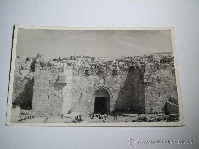 DAMASCUS GATE -PHOTO LEON JERUSALEM (Postales - Postales Extranjero - Asia)