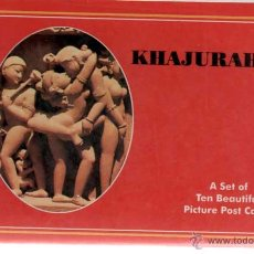 Postales: KHAJURAHO 10 POSTALES SET OF TEN BEAUTIFUL PICTURE POST CARDS. Lote 44067851