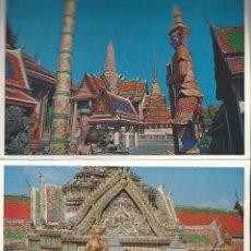 Postales: POSTALES BLOC DE 12 TARJETAS DE TEMPLO DE BUDA DE BANGKOK THAILAND. Lote 44179633