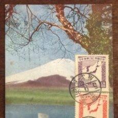 Postales: POSTAL JAPÓN. MONTE FUJI Y LAGO MOTOSU. CIRCULADA.. Lote 44295685