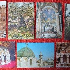 Postales: LOTE DE 7 POSTALES DE JERUSALEM - JERUSALEN. Lote 44756111