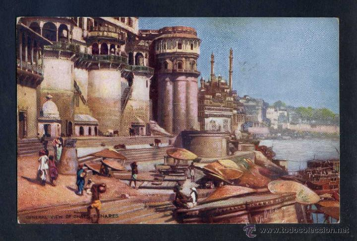 Postales: India. Benares. *General view of Ghats* Ed. Tuck serie nº 7239. Nueva. - Foto 1 - 44788888